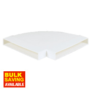 Manrose Horizontal 90° Bend White 225mm