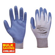 Ansell HyFlex 11-518 Ultralight Gloves Blue/Grey Large