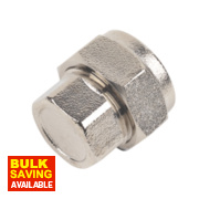 Chrome Stop End 15mm