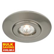 Fixed Circular Low Voltage Ceiling Downlight Converter Brushed Chrome 12V