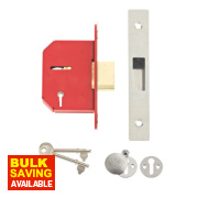 Union 5-Lever Mortice Deadlock Stainless Steel 2½