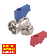 Angled Washing Machine Valve Elbow 15mm x ¾