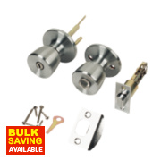 ERA Privacy Lock Satin Silver Pair 67mm