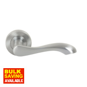 Jedo Chloe Door Handle Pair Satin Chrome