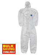 Tyvek Classic Hooded Disposable Coverall White Large 40-42