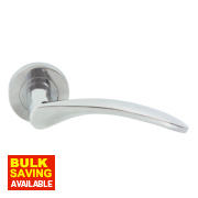 Jedo Lever on Rose Lever on Backplate WC Door Handle Pack Polished Chrome