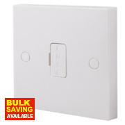 British General 13A Unswitched Fused Connection Unit White