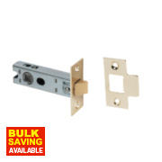 Tubular Latch Electro Brass 76mm