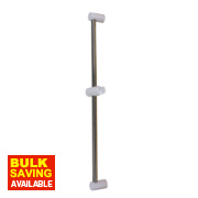 Swirl Modern Riser Rail White & Chrome