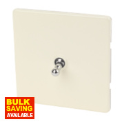 Varilight 1-Gang 2-Way 10A White Choc Metal Toggle Switch