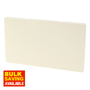 Varilight White Choc Double Blank Plate