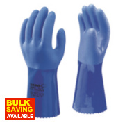 Showa 660 Chemical Hazard Gauntlets Blue X Large