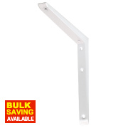 Hi-Load Mitred Bracket 79kg White 350 x 350mm Pack of 10