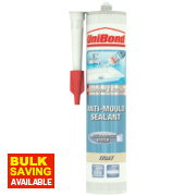 Unibond Anti Mould Sanitary Sealant Ivory 300ml