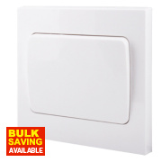 British General 1-Gang 2-Way 10AX Light Switch with Wide Rocker White