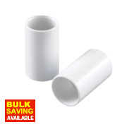 Conduit Couplings 25mm White Pack of 2