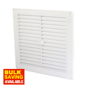 Map Vent Fixed Louvre Vent White 229 x 229mm