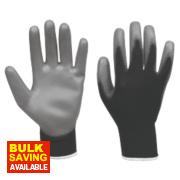 PU Palm Gloves Black/Grey Medium