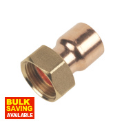 End Feed Straight Tap Connector 22mm x ¾