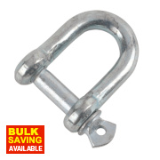 Hardware Solutions D-Shackle M8 Zinc-Plated Pack of 10