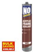 No Nonsense Acrylic Frame Sealant White 310ml