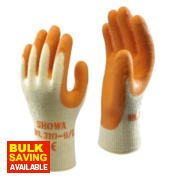 Showa 310 Original Builder's Gloves Orange Medium