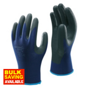 Showa 380 Nitrile Foam Grip Gloves Blue Large
