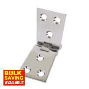 Counter Flap Hinge Polished Chrome 102 x 38mm Pack of 10
