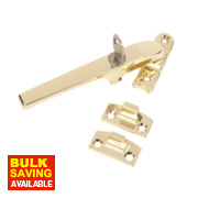 Lockable Casement Fastener Polished Brass 140mm