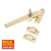 Jedo Lockable Casement Fastener Polished Brass 140mm