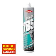 Dow Corning 785+ Bacteria Resistant Sanitary Silicone White 310ml