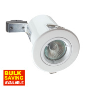 Robus Fixed Round Low Voltage Fire Rated Downlight White 12V