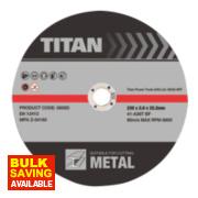 Titan Metal Cutting Discs 230 x 2 x 22.2mm Pack of 3