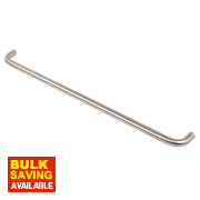 Office D Pull Handle Satin Stainless Steel 600mm Pack of 2