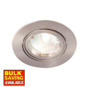 Robus Adjustable Round Mains Voltage Downlight Brushed Chrome 240V