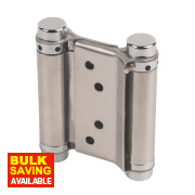 Spring Hinges Satin Stainless Steel 38 x 78mm Pack of 2