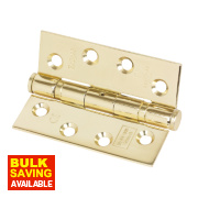 Eclipse Grade 11 Ball Bearing Hinges Electro Brass 102 x 76mm Pk2