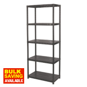 Solid Plastic Shelving 5-Tier