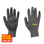 DeWalt Nitrile-Coated Nylon Gloves Grey Large