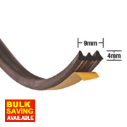 Stormguard EPDM Rubber E Strip Brown 20m