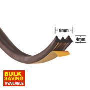 Stormguard EPDM Rubber E Strip Brown 20m