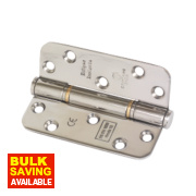 Grade 13 Fire Door Insignia Radius Hinges Pol. SS 102 x 76mm Pk3
