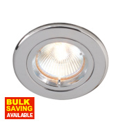 Robus Fixed Round Mains Voltage Downlight Polished Chrome 240V