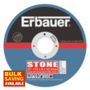 Erbauer Stone Grinding Discs 115 x 6 x 22.23mm Pack of 5