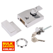 Yale 89 Night Latch Chrome-Plated 60mm Backset