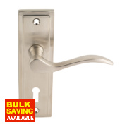 Bordeaux Lever Lock Pair Satin Nickel