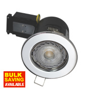 Robus 30, 60 & 90min Fire Rated Fixed LED Downlight IP20 Chrome 3.5W