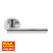Jedo T-Bar Lever on Rose Door Handle Pack Polished Chrome