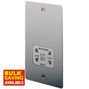LAP Dual Voltage Shaver Socket 115/230V Brushed Stainless Steel
