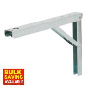 Adjustable Folding Bracket Silver 300 x 200mm Pack of 2